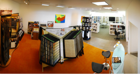 Cornerstone Commercial Flooring showroom.